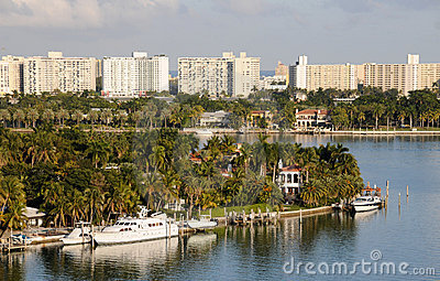Tropical scenery from Miami, Florida