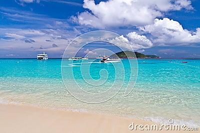 Tropical scenery of Similan islands