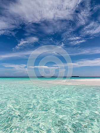 Tropical sea and blue sky
