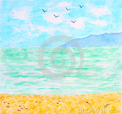 Tropical Sea or Ocean Summer Landscape