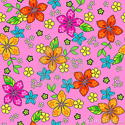Tropical Seamless Repeat Pattern Vector