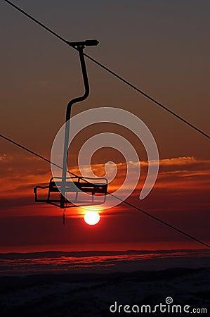 Tropical Ski Resort Chair Lift
