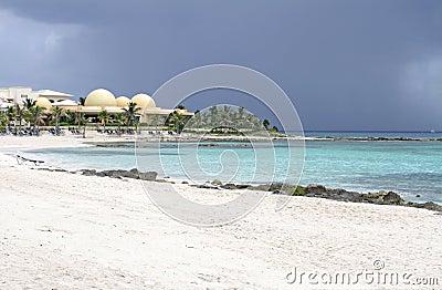 Tropical Storm on Beach