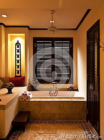 Tropical style bathroom