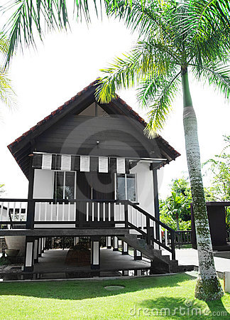 Free Tropical Style House In Garden Stock Photography - 13549202