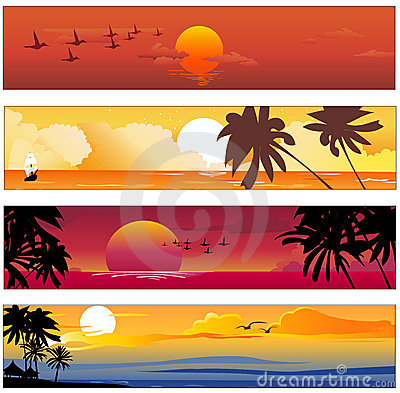 Free Tropical Summer Banner Royalty Free Stock Photo - 9540055