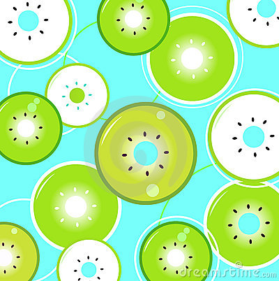 Tropical summer Kiwi background or pattern