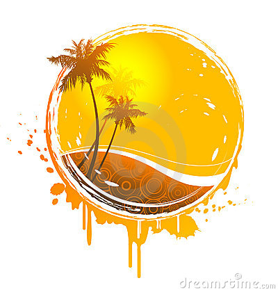 Tropical sun splash