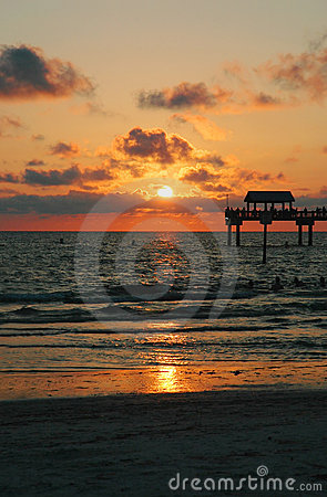 Free Tropical Sunset Stock Photo - 4453740