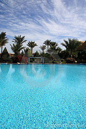 Swimming pool in Egyt, holidays