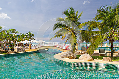 Tropical Swimming Pool Scenery In Thailand Royalty Free Stock Photo - Image: 29108875