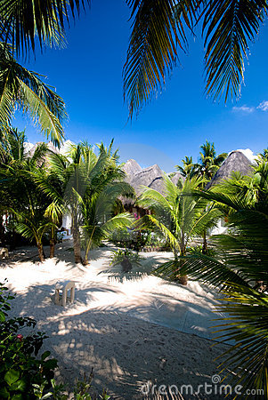 Tropical tourist resort in the Caribbean