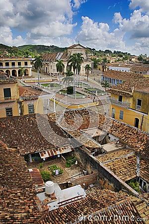 Tropical town Trinidad, cuba