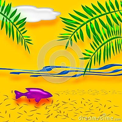Tropical vacation art
