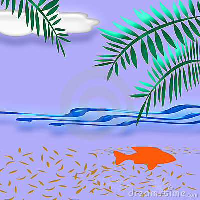 Tropical vacation art