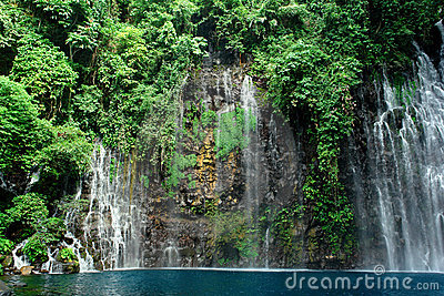 Tropical waterfall in jungle