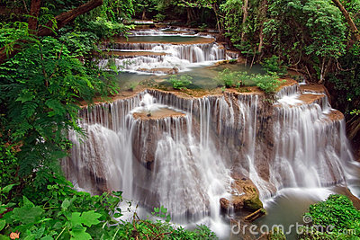 Tropical waterfall in Thailand