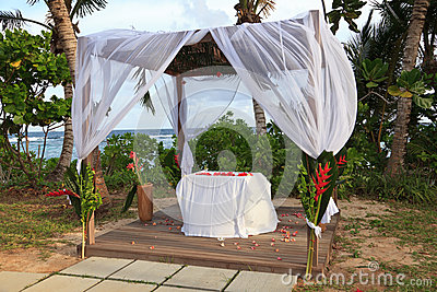 Tropical wedding pavilion