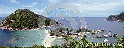 Tropical white sand beach at thailand