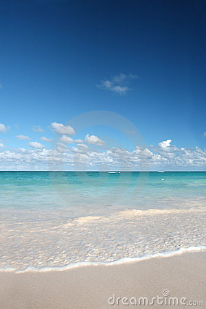 Tropical White Sands Beach, Caribbean Ocean