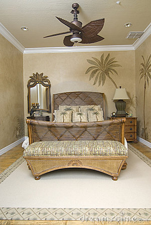 Tropical Wicker Bedroom 2