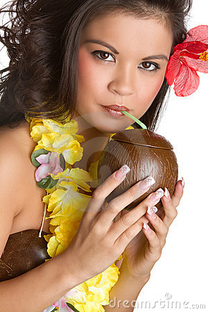 Tropical Woman Drinking