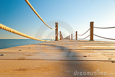 Tropical wooden pier