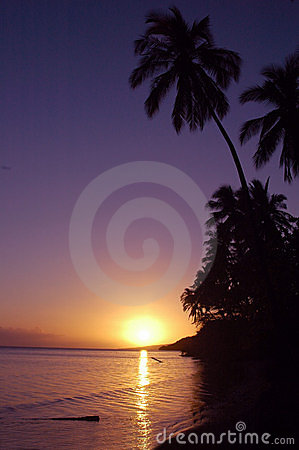 Free Tropicl Hawaiian Sunset Royalty Free Stock Photos - 1342928
