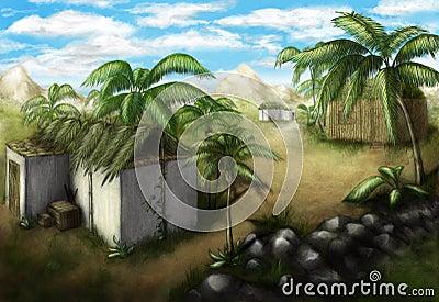 Tropisches Dorf