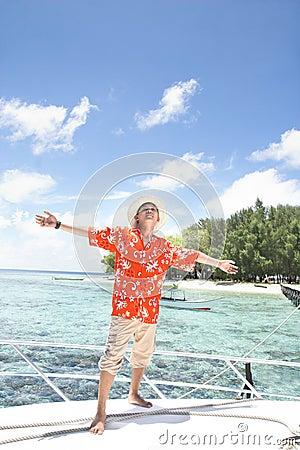 Tropisk semester för ö