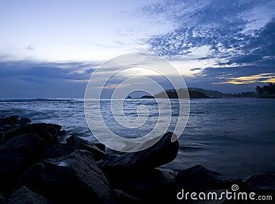Tropisk solnedgång