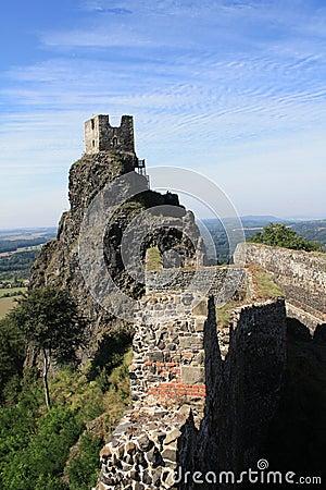 Trosky ruins Czech republic