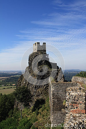 Trosky ruins Czech republic Tower Baba