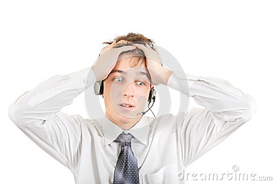 Troubled Teenager with Headset
