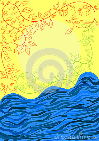 Troubled waters river greeting card