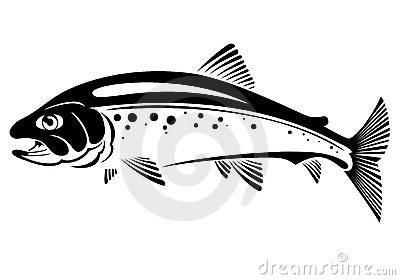 trout clip art. trout. trout and crossed fishing tackles vector ...