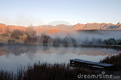 Trout pond in the mountains