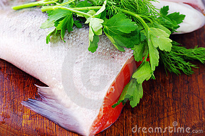 Trout Tail With Parsley Royalty Free Stock Photo - Image: 11812155