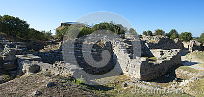 Troy Archeology Site in Turkey, Ancient Ruins
