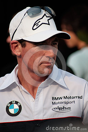 Troy Corser BMW S1000RR BMW Motorrad Motorsport Editorial Stock Image