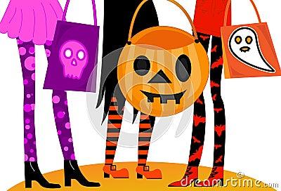 Trucco o Treaters di Halloween