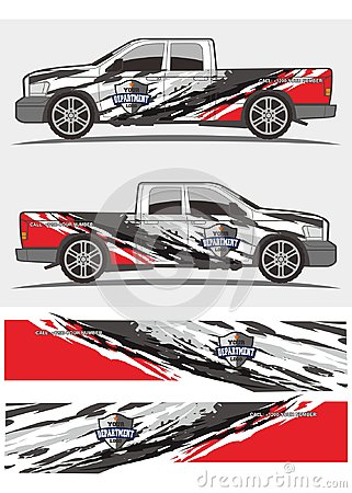 Free Truck And Vehicle Decal Graphics Kits Design Stock Photos - 107007313