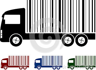 Truck with bar code