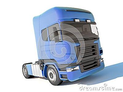 Truck blue cab