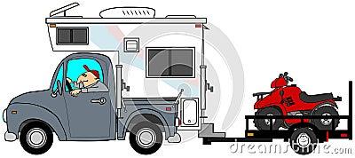 Truck & camper pulling ATV s