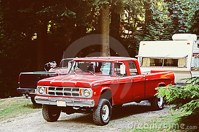 Truck and Camping Trailer