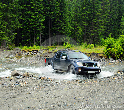 Free Truck Crossing River Stock Images - 11453154