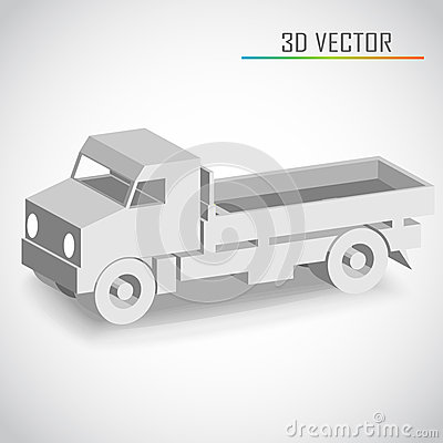 Truck 3d vector