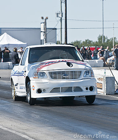 Truck on the dragstrip Editorial Photo