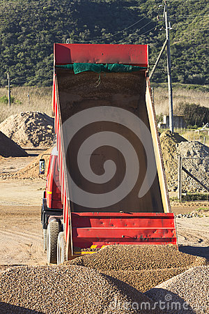 Truck with empty tipper
